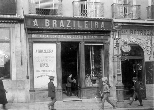 בית הקפה א-ברזילירה בליסבון, 1911 (Joshua Benoliel)