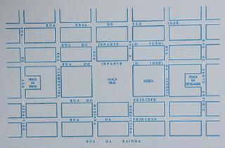 .תכנית העיר וילה ריאל דה סנטו אנטוניו. עיצוב קלאסי של רשת פומבלינית