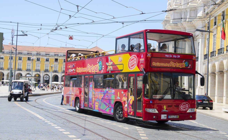 אוטובוס התיירים בליסבון